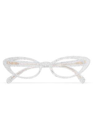 Miu Miu | Cat-eye glittered acetate optical glasses | NET-A-PORTER.COM