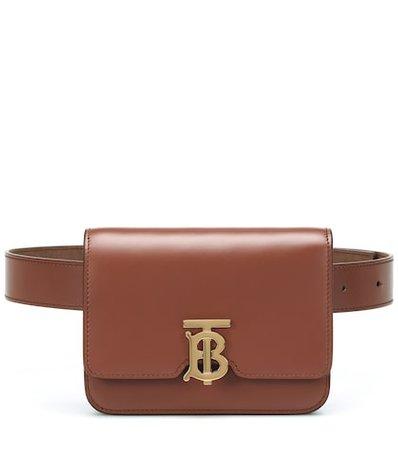 TB leather belt bag