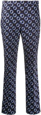 Geometric-Print Cropped Trousers