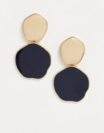 Accessorize disc earrings in gold multi | ASOS