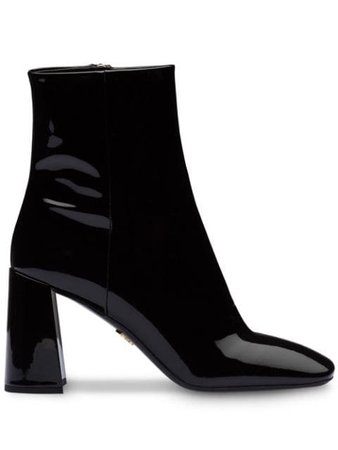 Prada Patent Leather Booties 1T722LF085069 Black | Farfetch