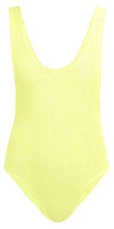Ruby Scrunch Crinkle Swimsuit - Womens - Yellow