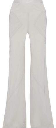 Silk Crepe De Chine Flared Pants