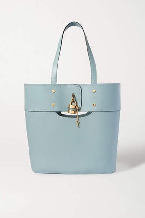 Aby Medium Smooth And Textured-leather Tote - Blue