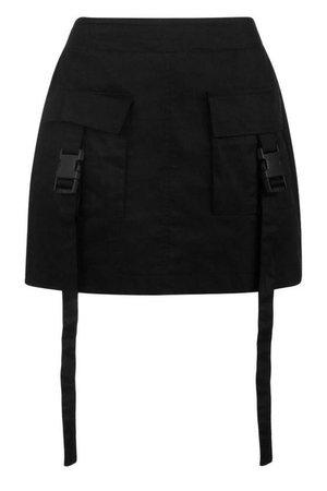 Woven Cargo Utility Pocket Mini Skirt | Boohoo