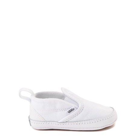 Vans Slip On Skate Shoe - Baby - True White | Journeys