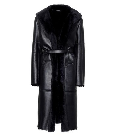 Hank leather and shearling coat