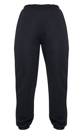 Black Basic Cuffed Hem Jogger | Trousers | PrettyLittleThing USA