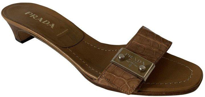 Camel Leather Sandals
