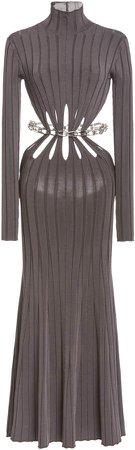 Dion Lee Cutout Ribbed-Knit Midi Dress