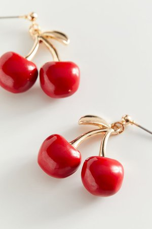 Cherry Statement Post Earring | Urban Outfitters