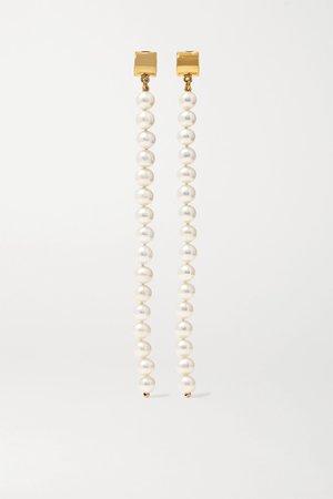 Gold Gold-plated pearl earrings | Meadowlark | NET-A-PORTER