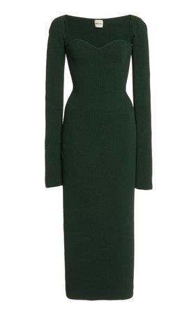 Beth Sweetheart Ribbed Jersey Dress by Khaite | Moda Operandi