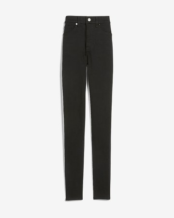High Waisted Black Skinny Jeans | Express