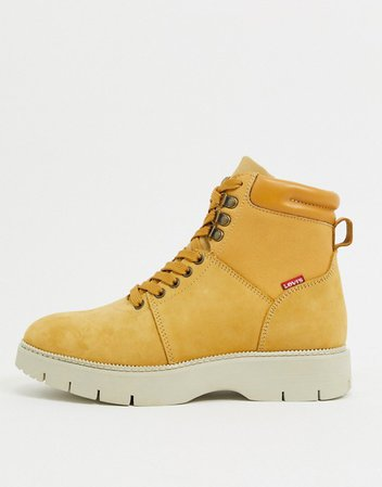 Levi's lace up boots in tan | ASOS