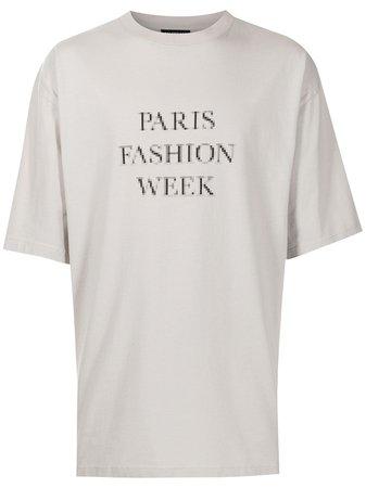 Balenciaga t-shirt à Slogan Imprimé - Farfetch