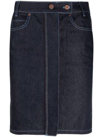 Victoria Victoria Beckham Denim Pencil Skirt - Farfetch