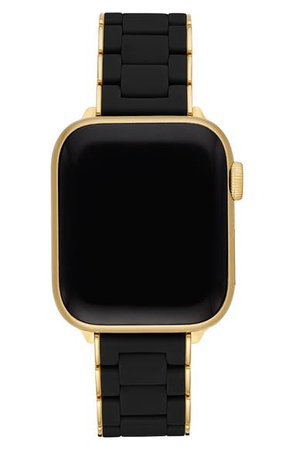 MICHELE Apple Watch® Stainless Steel & Silicone Bracelet Strap | Nordstrom