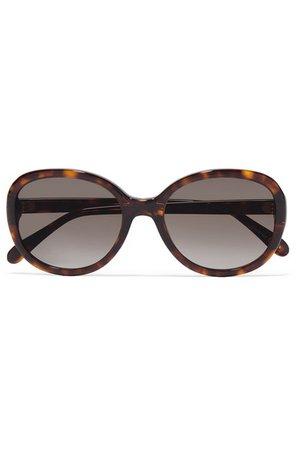 Givenchy | Sonnenbrille mit rundem Rahmen aus Azetat in Hornoptik | NET-A-PORTER.COM