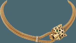 Cartier, Panthère de Cartier necklace Yellow gold, lacquer, diamonds, tsavorite garnet, onyx