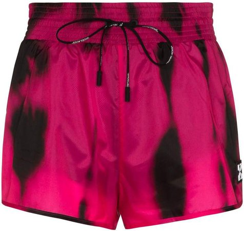 high waist tie dye shorts