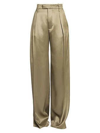 Bottega Veneta Pleat-Front Wide-Leg Pants