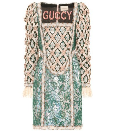 Guccy embellished minidress