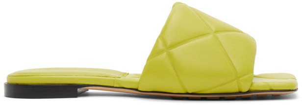 Green Lido Flat Sandals