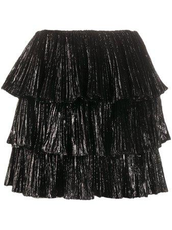 Saint Laurent Tiered Ruffle mini-skirt - Farfetch