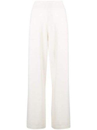Shop white Barrie ribbed waistband trousers with Express Delivery - Farfetch