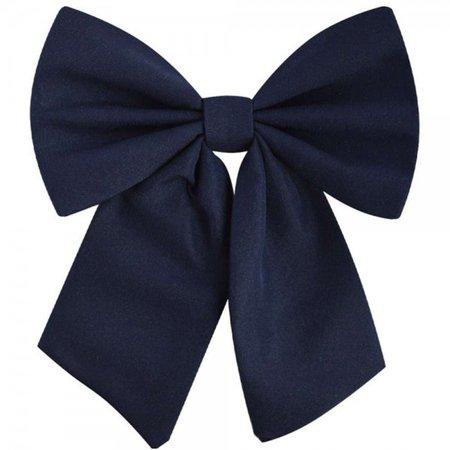 Dark blue bow tie for women - smofox.com