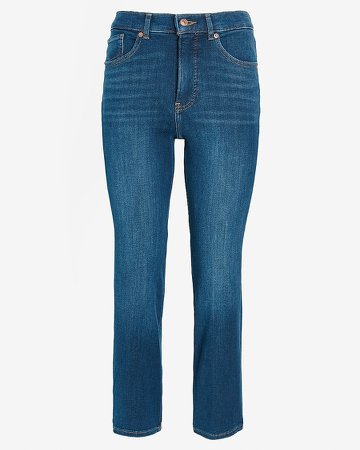 High Waisted 4-Way Hyper Stretch Straight Jeans