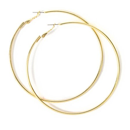 Gold 80MM Hoop Earrings | Claire's US