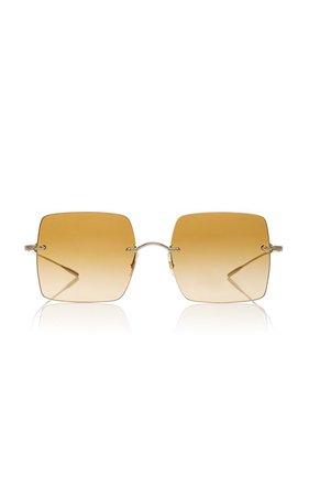 Oishe Oversized Rimless Sunglasses by Oliver Peoples | Moda Operandi