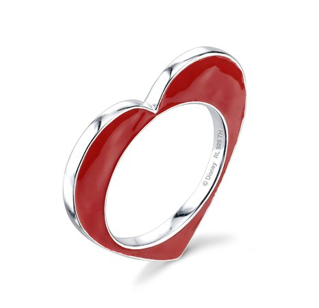 Disney X RockLove Alice in Wonderland Heart Single Stacker Ring – RockLove Jewelry