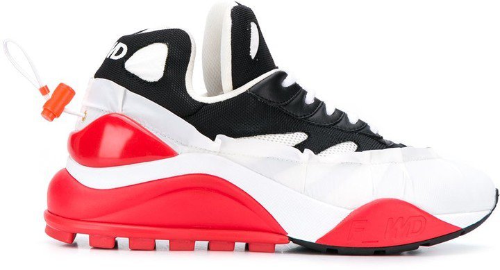 F Wd Low-Top Colour Block Sneakers