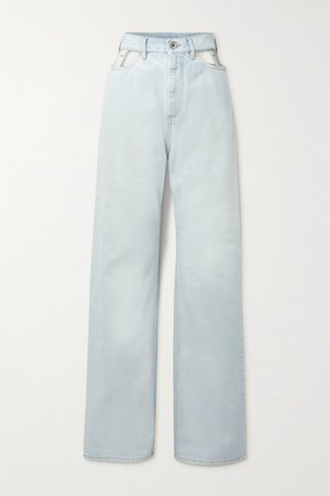Blue Cutout high-rise wide-leg jeans | Maison Margiela | NET-A-PORTER