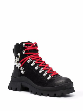 Dsquared2 contrasting laces mountain boots - FARFETCH
