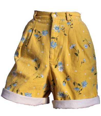 Floral Yellow Mom Shorts