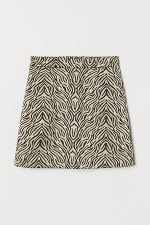Jacquard-weave Skirt - White