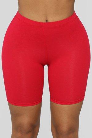 Biker Shorts - Red