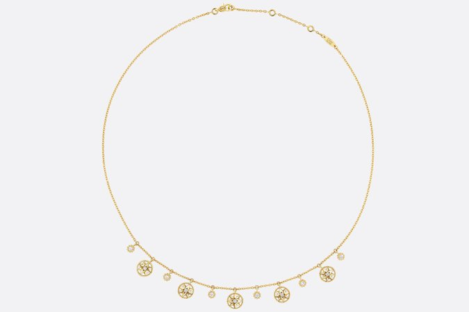 ROSE DES VENTS NECKLACE, 18K YELLOW GOLD, DIAMONDS AND MOTHER-OF-PEARL Yellow Gold, Diamonds and Mother-of-pearl