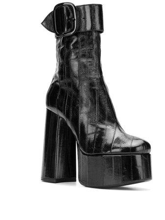 Saint Laurent Round Toe Boots | Farfetch.com