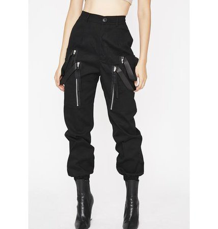 Dolls Kill MIDNIGHT SMOKE BREAK CARGO PANTS