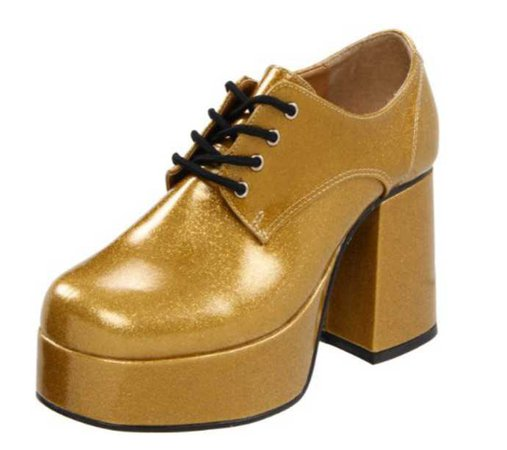 gold platform oxfords