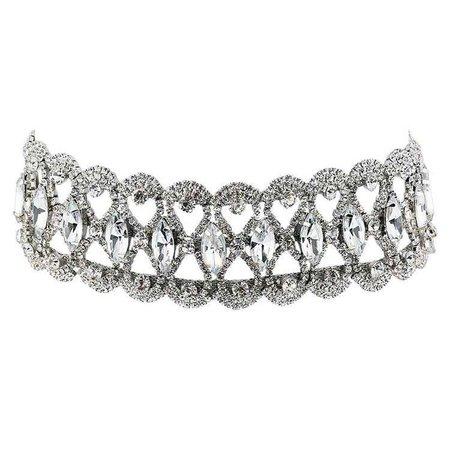 Luxury Full Diamond Crystal Rhinestone Pendant Choker