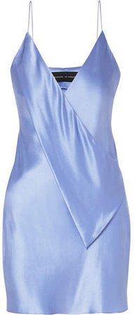 Michael Lo Sordo - Draped Silk-satin Mini Dress - Blue