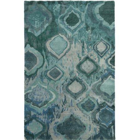 Latitude Run Eridani Hand-Knotted Blue/Green Area Rug | Wayfair