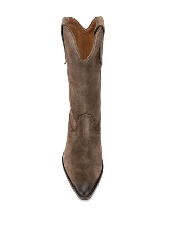 Isabel Marant Suede Western-style Boots - Farfetch