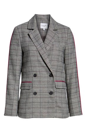 Chriselle Lim Bianca Piped Houndstooth Blazer (Nordstrom Exclusive) | Nordstrom
